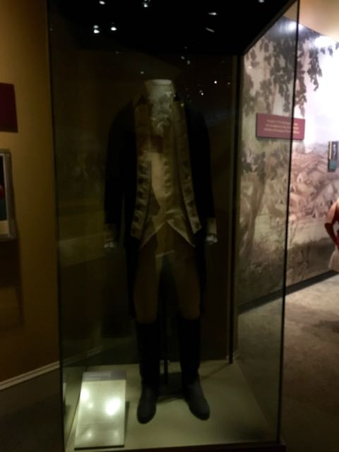 George Washington's actual uniform