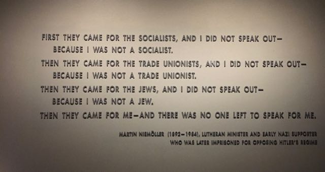 Last image from the Holocaust Museum