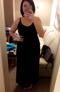 Ok todays OOTD is a black maxi!