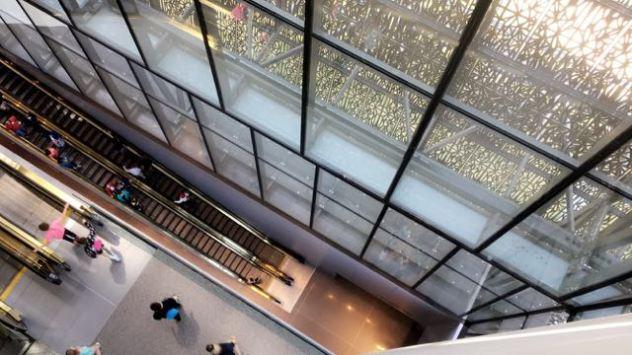 The top floor looking down