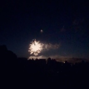 Our town's fireworks on the third