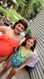My youngest w my oldest niece