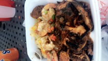 my dish was the jerk chicken and shrimp