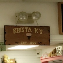 Krista K's for ice cream... eh I didnt care for this place..