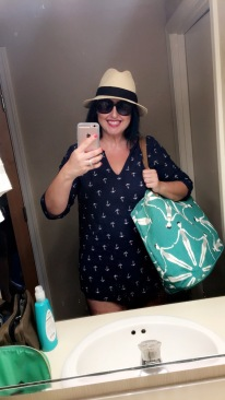 So I look so stupid but I covered myself head to toe for the beach..idk why... hahah