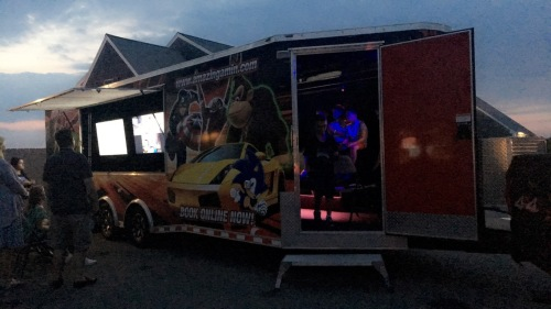 Came back to the resort to play in the mobile game truck.