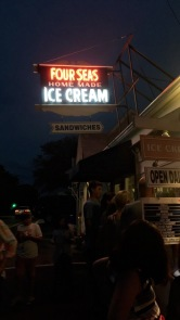 """I want to be Jackie Onassis"" ooh yeahhhhhh ok I will stop singing.. So Four Seas is the place in Hyannis for ice cream. My fam loves it here but I hadta skip it this night... too much ice cream for me man!"