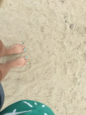 Toes in the sand. I want to relish this feeling!