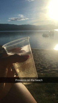 so I poured myself a lil glass and waited for the boat to return..