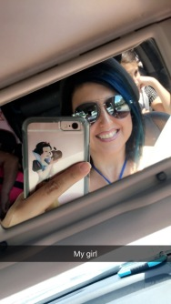 Driving down to the cape..my husband made me a new snow white for my phone case.. she is so cute.