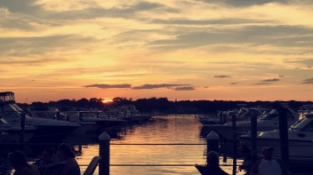 We had to go to my fave place to see the sun set and drink... The Summer Shanty