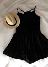 OOTD; black strappy romper