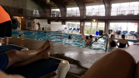 then the rain came, and we ended up in hell. I mean the indoor pool.. I read a book and the kids had a blast.