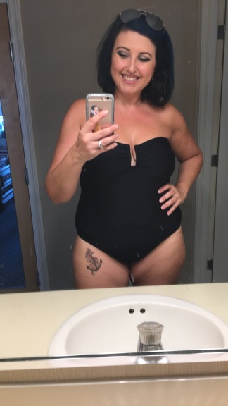Bathing suit OOTD: black beauty
