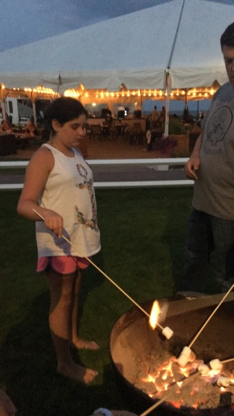 After my parents left, it was roasting marshmallows time