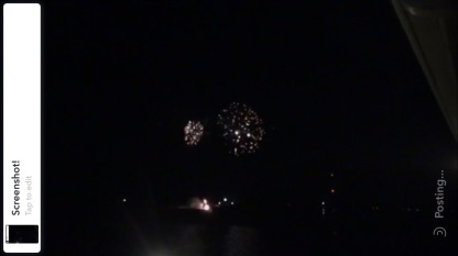 Then back up in the room the kids and i caught some unexpected fireworks