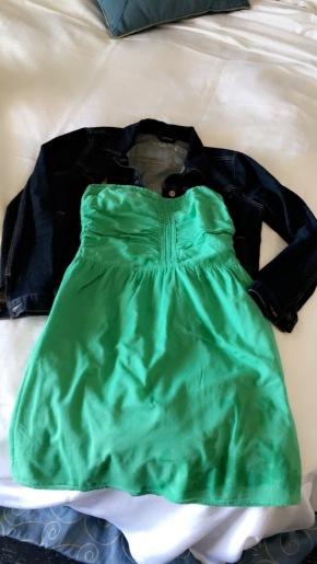 OOTD; lime green dress
