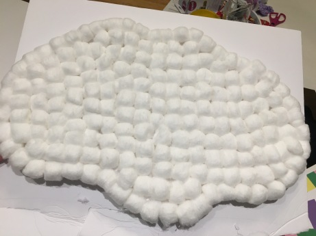 Making cotton clouds