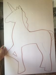 making unicorn decoration