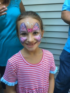 Hailey with her butterfly