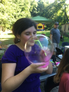 figuring out that they can make bubbles