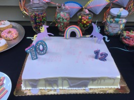 Unicorn themed Birthday Cake
