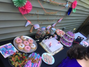 Sweets table with cake