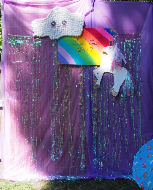 Unicorn theme photo background