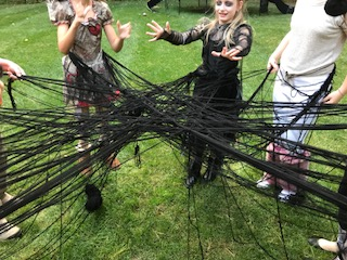 The spider web!