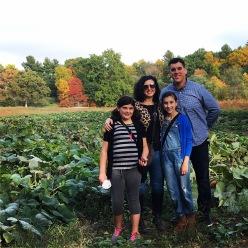 My family pumpkin picking