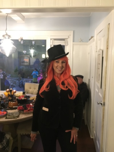 My sister, I think she is a melange of clock work orange and the madhatter