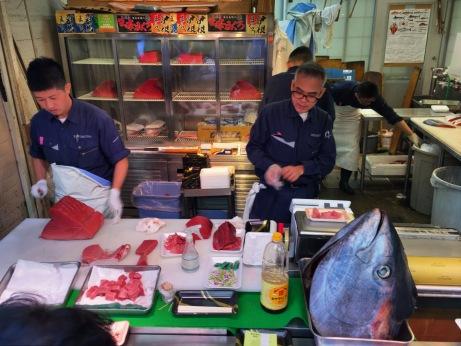Fresh caught sushi