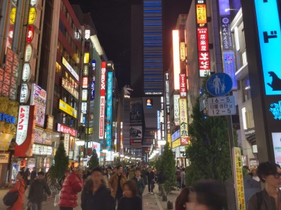 Shinjuku at night, see Godzilla??