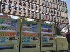 vending machines every where...