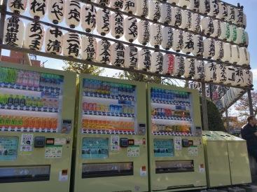 vending machines every where...