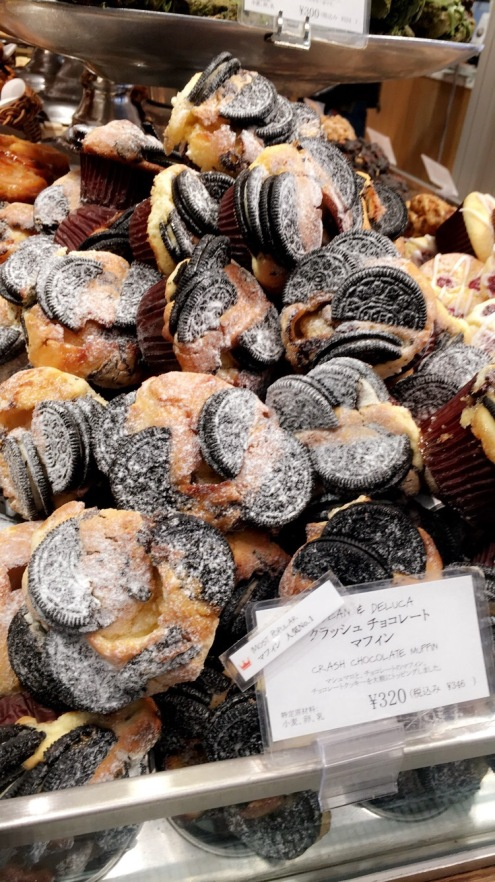 I wish I had a sweet tooth cuz these looked amazing. Oreo Muffins at Dean and Deluca Shinjuku Tokyo Japan