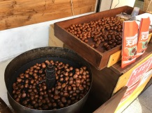 Walking the street there was this vendor with chestnuts roasting with coal..it was super cool and smelled so interesting. I love chestnuts