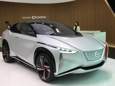 We happened upon this Nissan show room that featured this cool new car of the future.