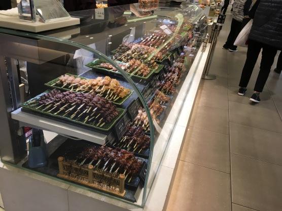 food in Mitsukoshi Dept store