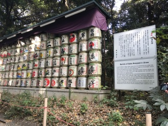 The gift to the shrine..sake barrels