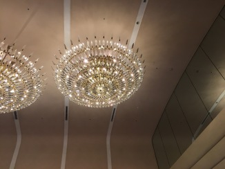 I was obsessed with the chandeliers..they had these mirrored leaves..so spectacular