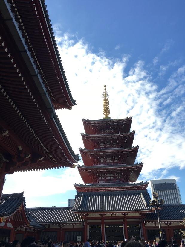 Asakusa Sensoji Temple Pagoda