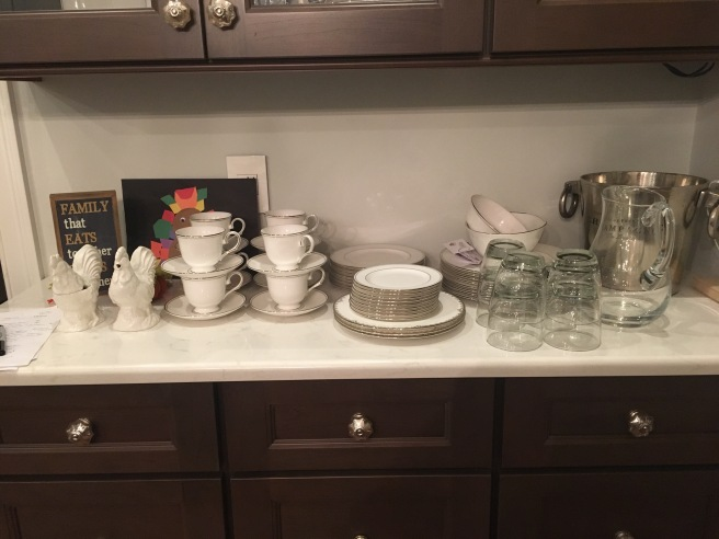 Dishes clean and ready