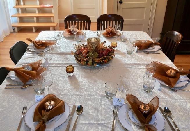 Tablesetting for Thanksgiving