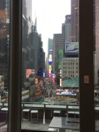 Our view at bfast- Times Sq Novotel