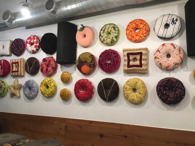 Donut cushions-wall art
