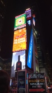 Walking through Times Sq