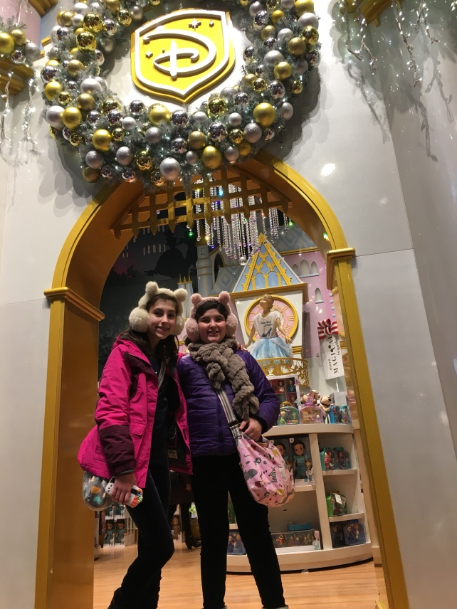 They asked for two stops... first night M&M store, second the Disney Store hah they are my kids.