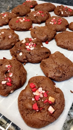Made chocolate chunk peppermint
