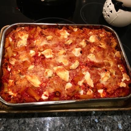 Made pasta alla norma- pasta al forno
